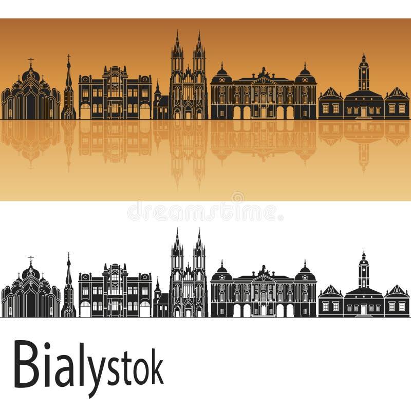 Bialystok horisont stock illustrationer