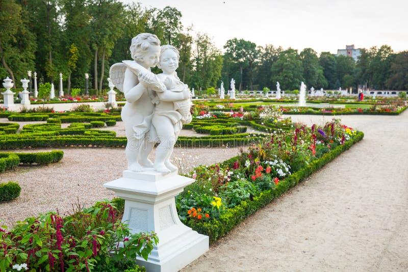 Bialystok, Poland - September 17, 2018: Beautiful gardens of the Branicki Palace in Bialystok, Poland. Bialystok  is the largest stock photos