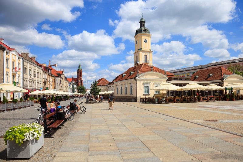 Bialystok Polen arkivbild