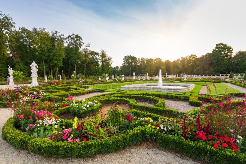 Bialystok, Polska - 17 września 2018: Piękne ogrody pałacu Branickiego w Białymstoku, Polska Białystok jest największy zdjęcie royalty free