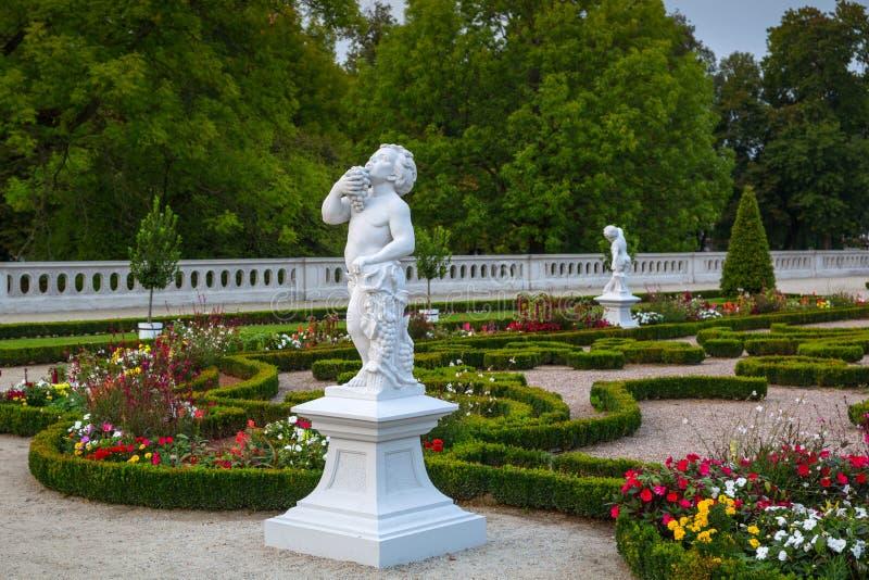 Bialystok, Polska - 17 września 2018: Piękne ogrody pałacu Branickiego w Białymstoku, Polska Białystok jest największy obrazy royalty free