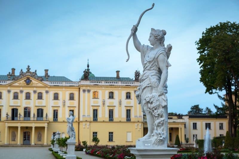 Bialystok, Polska - 17 września 2018: Piękne ogrody pałacu Branickiego w Białymstoku, Polska Białystok jest największy obrazy stock