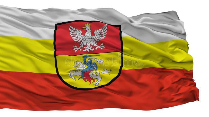 Bialystok stadsflagga, Polen som isoleras på vit bakgrund stock illustrationer
