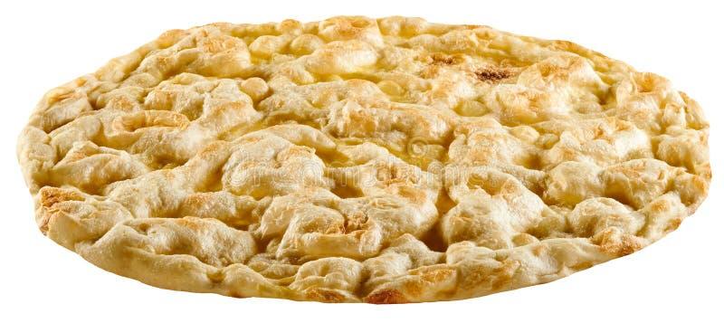 Bianca romano de la pizza de la ronda clásica o pizza blanca imágenes de archivo libres de regalías