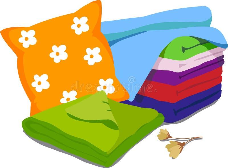 Biancheria da letto di colore illustrazione vettoriale