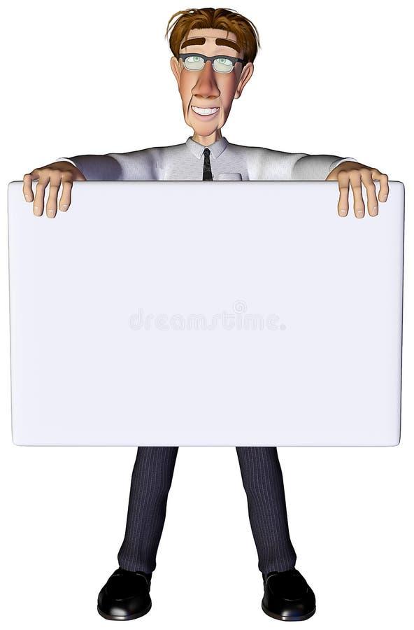bianco 3 dell'annuncio dell'uomo d'affari 3d royalty illustrazione gratis
