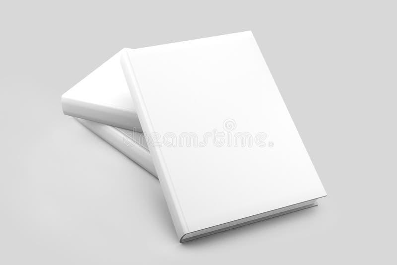 Bianco in bianco della copertina di libri isolato illustrazione di stock