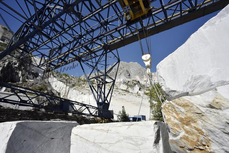 Bianco Blocchi di marmo стоковое изображение
