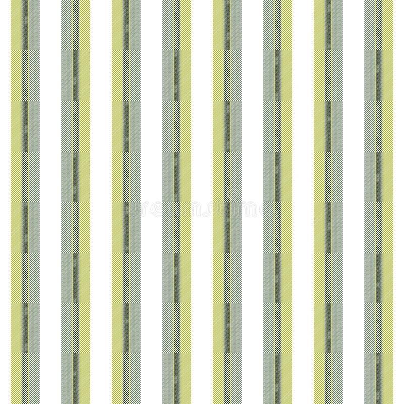 Bianco con il modello senza cuciture di struttura delle linee verde illustrazione di stock