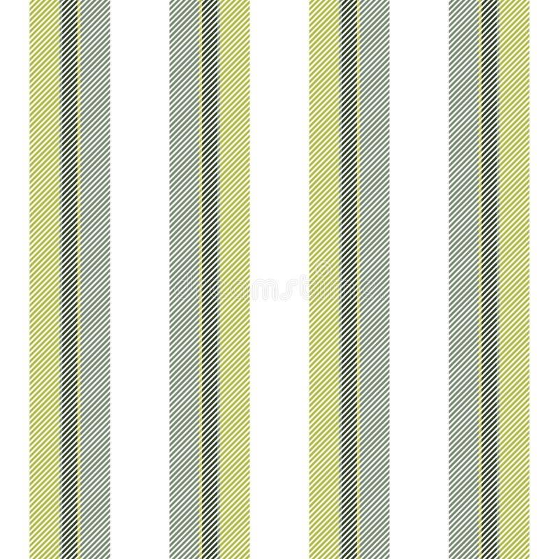 Bianco con il modello senza cuciture di struttura delle linee verde illustrazione vettoriale