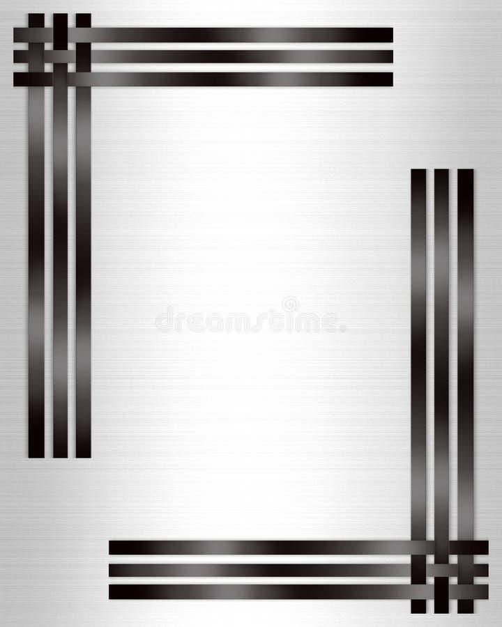 Bianco convenzionale del nero del modello dell'invito illustrazione vettoriale