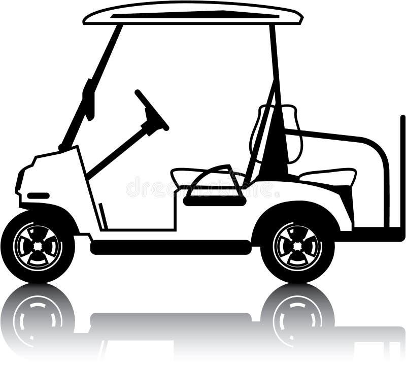 Bianco del carretto di golf royalty illustrazione gratis