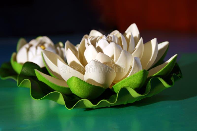 Bianco del loto fotografia stock