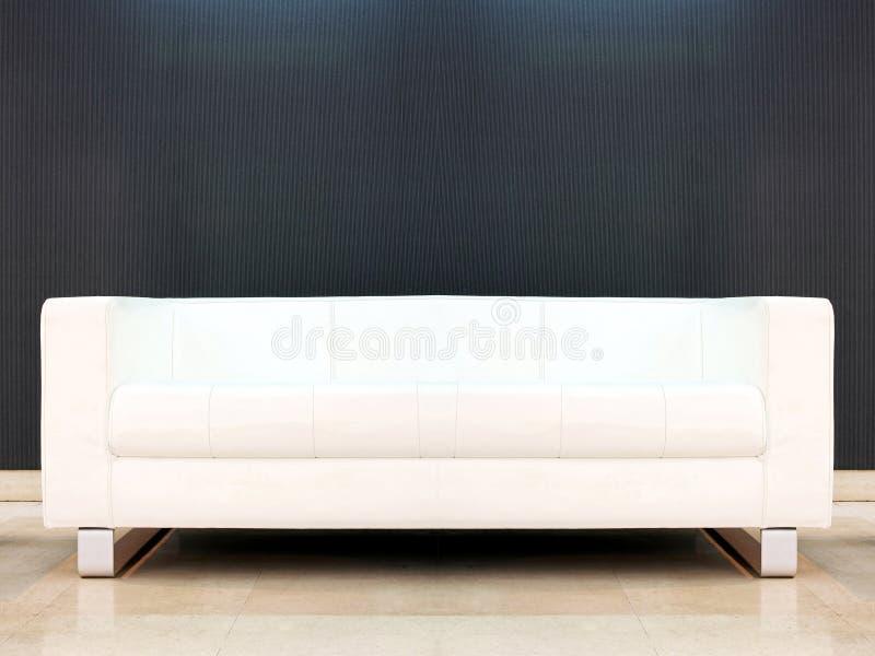 bianco del sofà immagine stock
