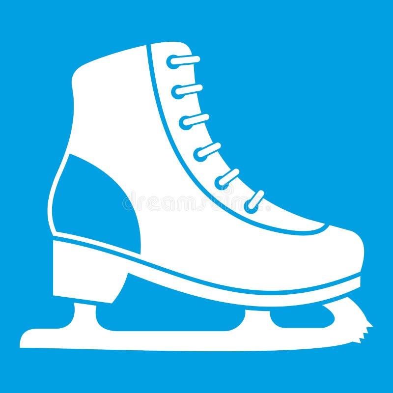 Bianco dell'icona del pattino da ghiaccio royalty illustrazione gratis