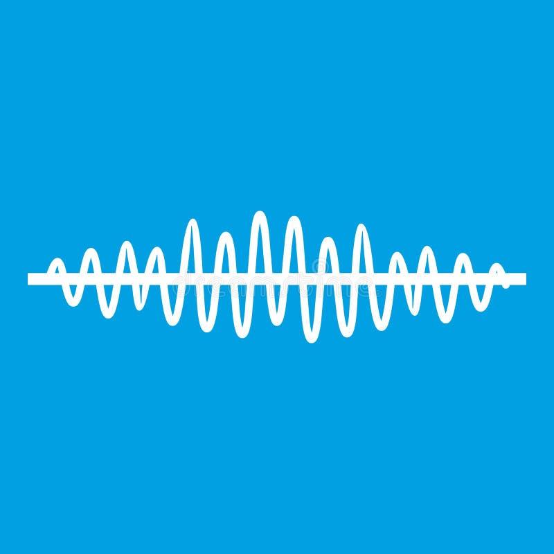 Bianco dell'icona dell'onda sonora illustrazione vettoriale
