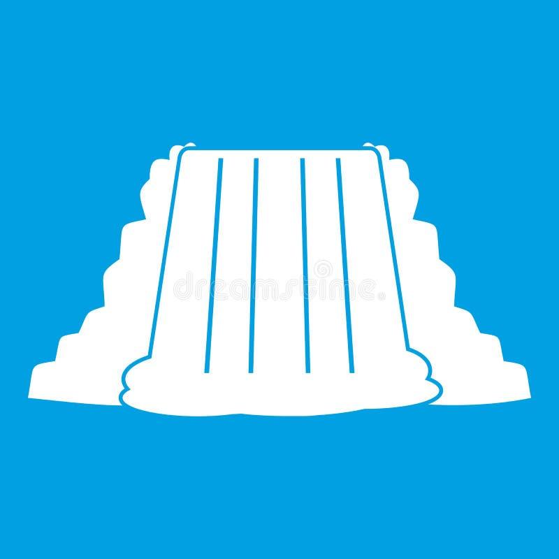Bianco dell'icona di cascate del Niagara illustrazione di stock