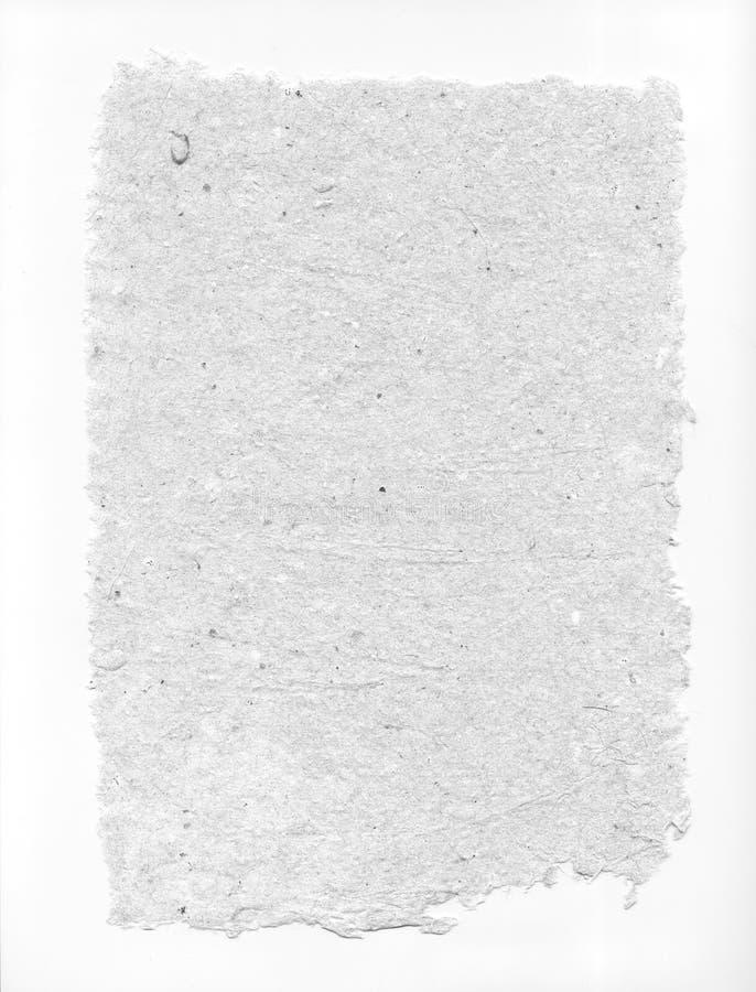Bianco della carta fatta a mano con i bordi irregolari fotografia stock