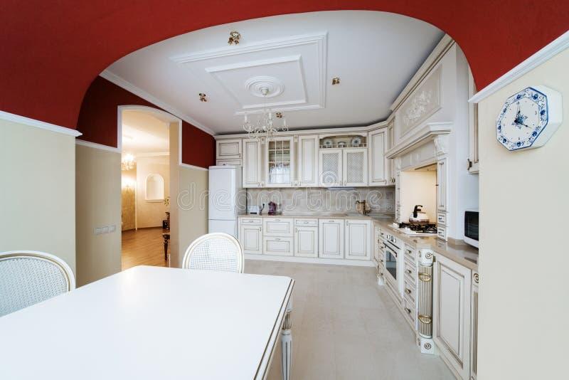 bianco della cucina fotografie stock libere da diritti