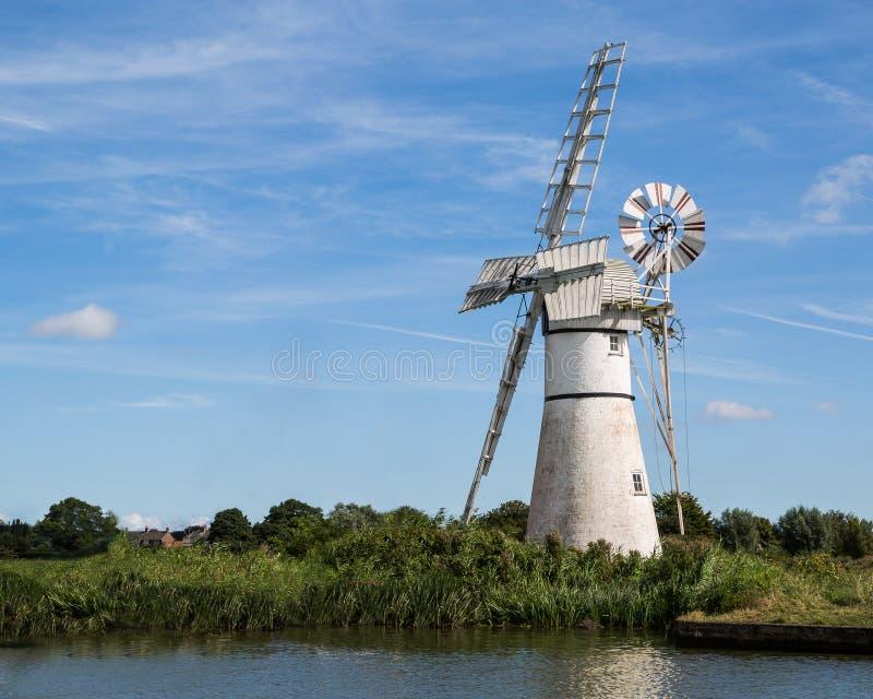 Bianco della pompa di vento della Norfolk fotografia stock