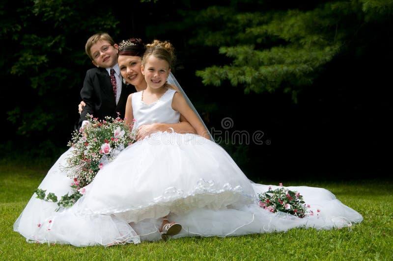 bianco della sposa fotografia stock