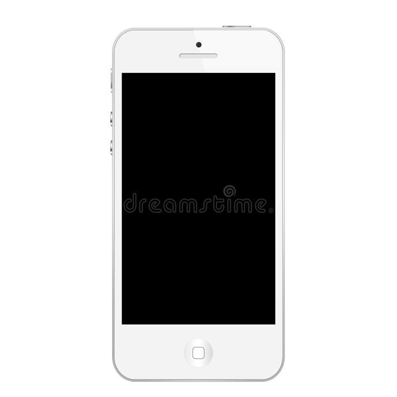 Bianco di Iphone 5 illustrazione di stock