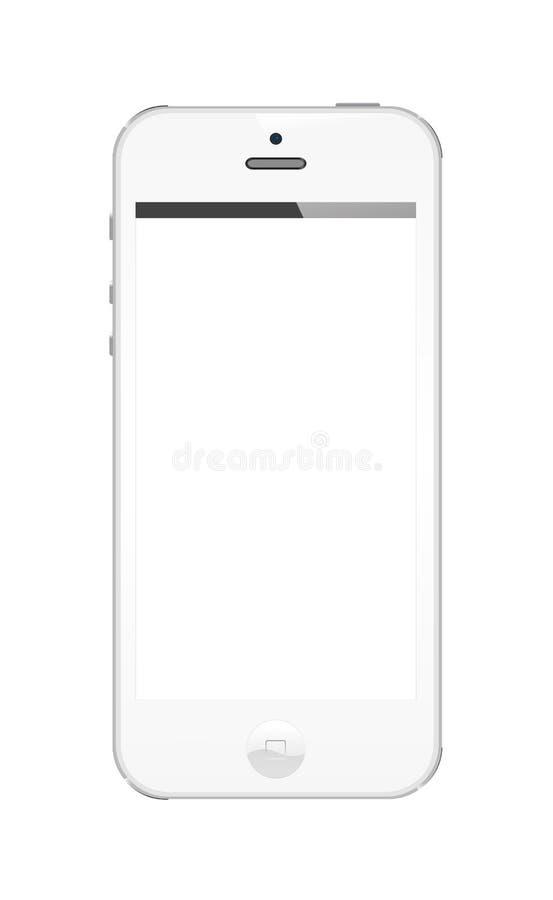 Bianco di Iphone 5 royalty illustrazione gratis