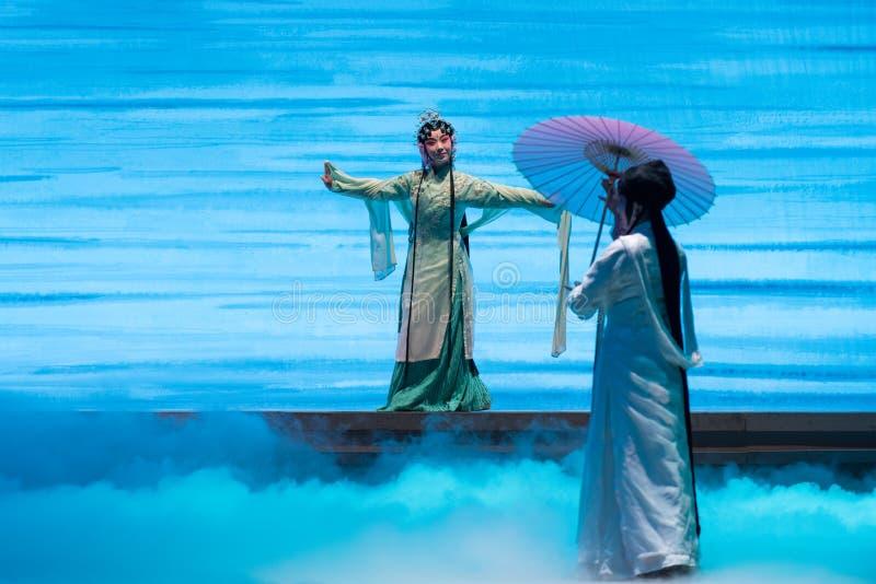 """ bianco di Opera""""Madame Snake†del serpente-Kunqu verde fotografie stock libere da diritti"""