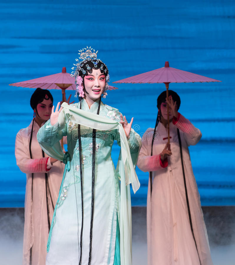 """ bianco di Opera""""Madame Snake†del serpente-Kunqu verde fotografia stock libera da diritti"""