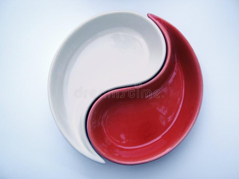 Bianco e colore rosso immagine stock libera da diritti
