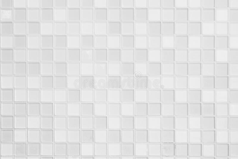 Bianco e grigio la foto o il mattone reale di alta risoluzione della parete delle mattonelle immagine stock libera da diritti