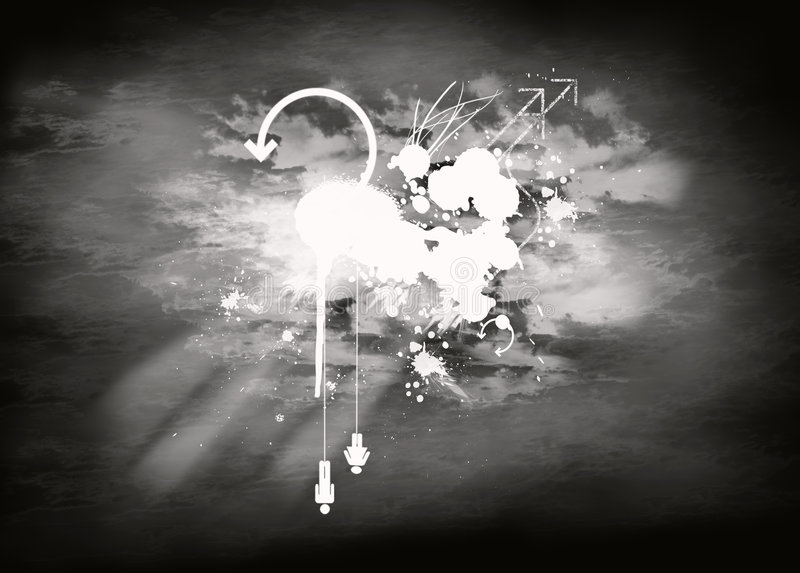 In bianco e nero nel cielo immagine stock