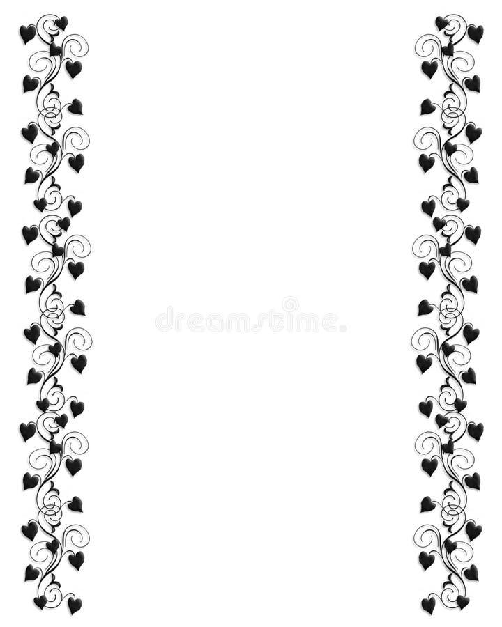 In bianco e nero ornamentale del bordo dell'edera royalty illustrazione gratis
