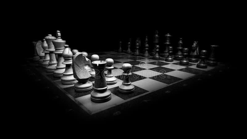 In bianco e nero, scacchi, gioco da tavolo, scacchiera