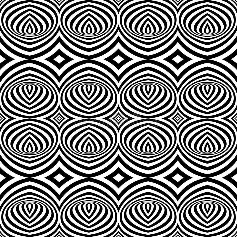 In bianco e nero sceglie Art Seamless illustrazione di stock