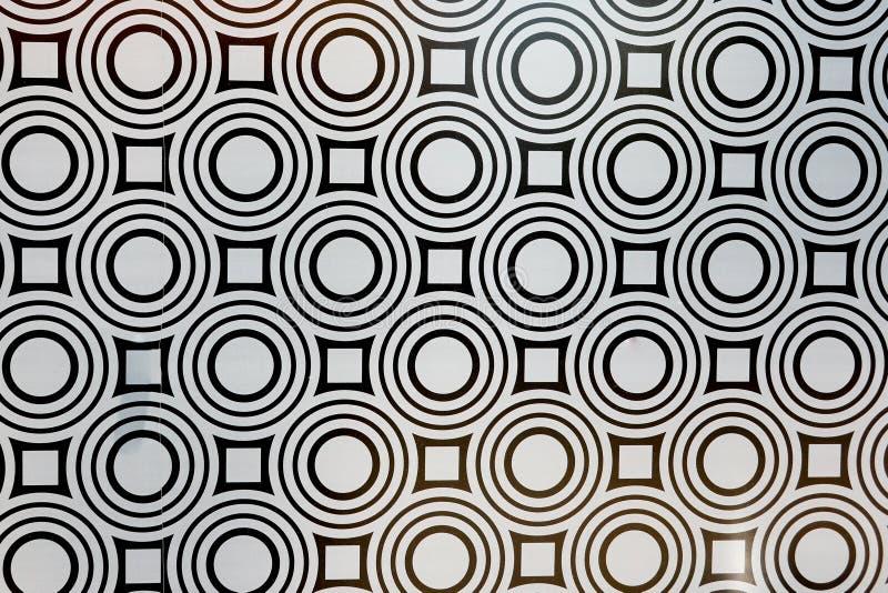 In bianco e nero senza cuciture Mediterraneo del mosaico del modello delle mattonelle illustrazione di stock