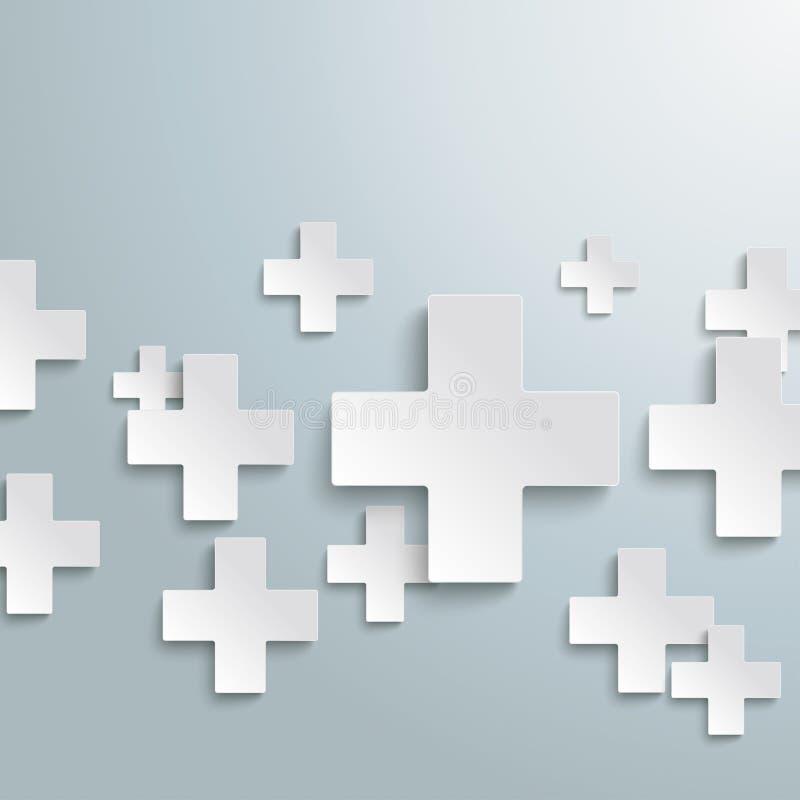Bianco più i simboli PiAd royalty illustrazione gratis