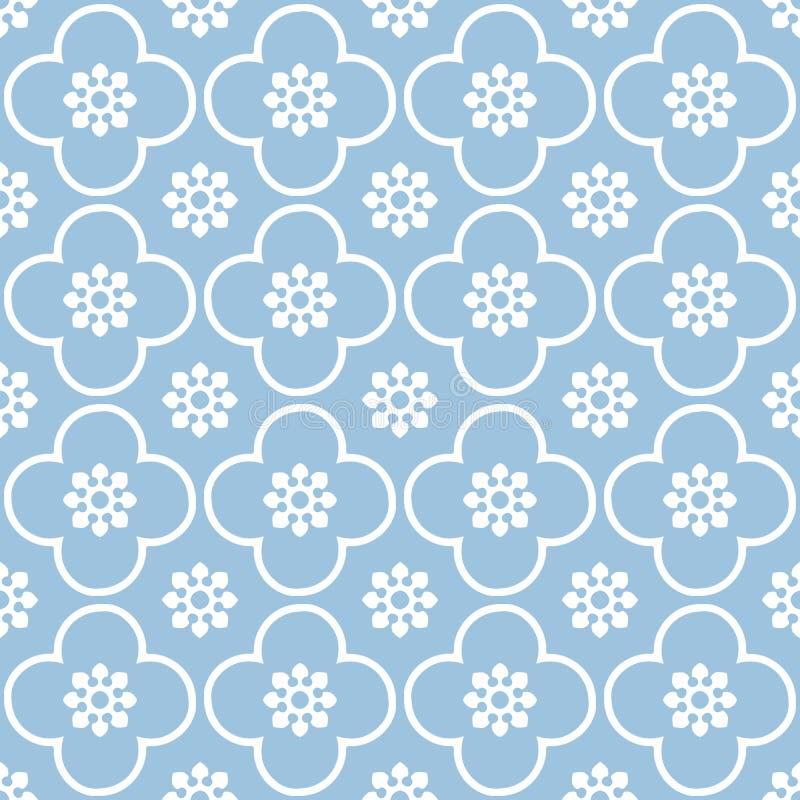 Bianco sul fondo senza cuciture blu-chiaro del modello di ripetizione del cerchio e del club immagine stock libera da diritti