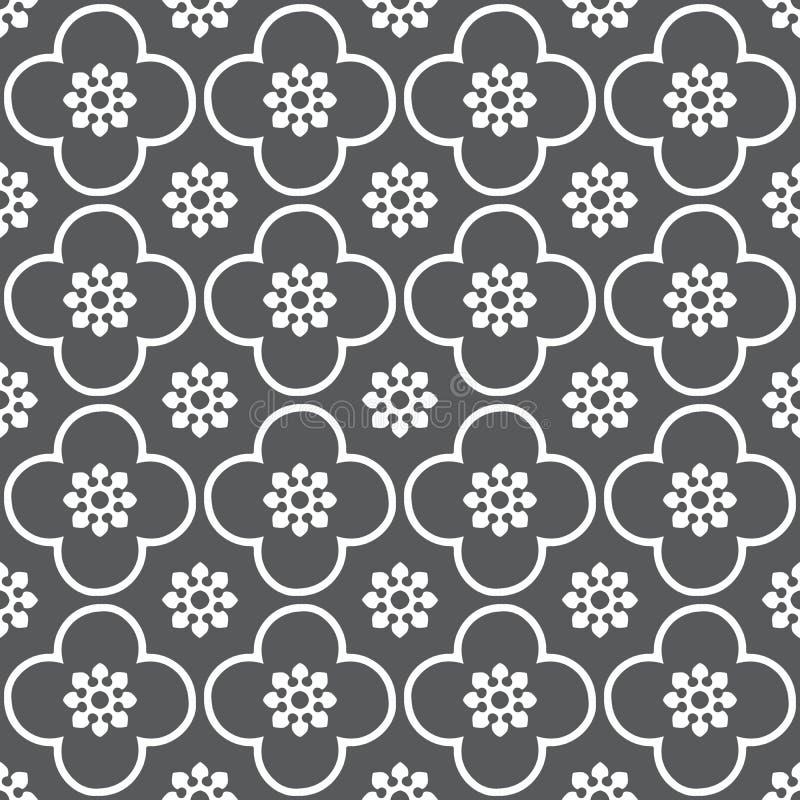 Bianco sul fondo senza cuciture grigio del modello di ripetizione del cerchio e del club fotografie stock