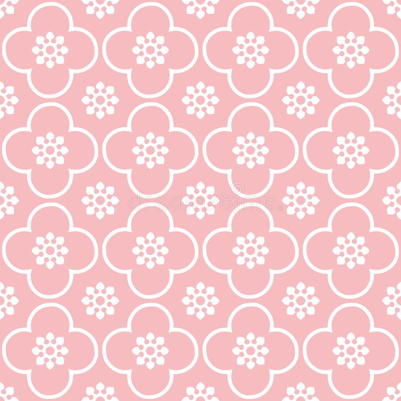 Bianco sul fondo senza cuciture rosa del modello di ripetizione del cerchio e del club immagini stock libere da diritti