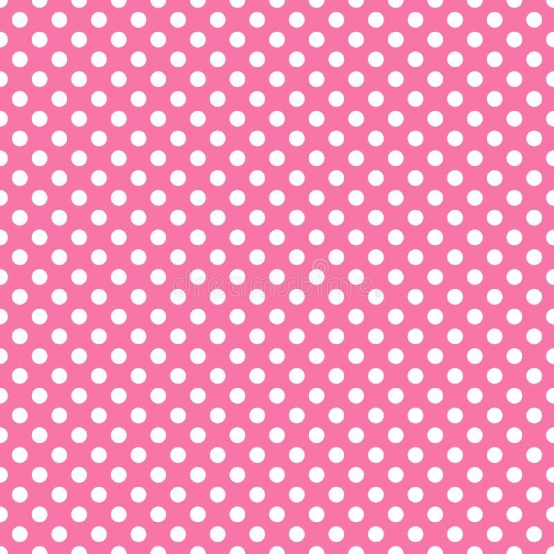 Bianco sulla Polka rosa illustrazione vettoriale