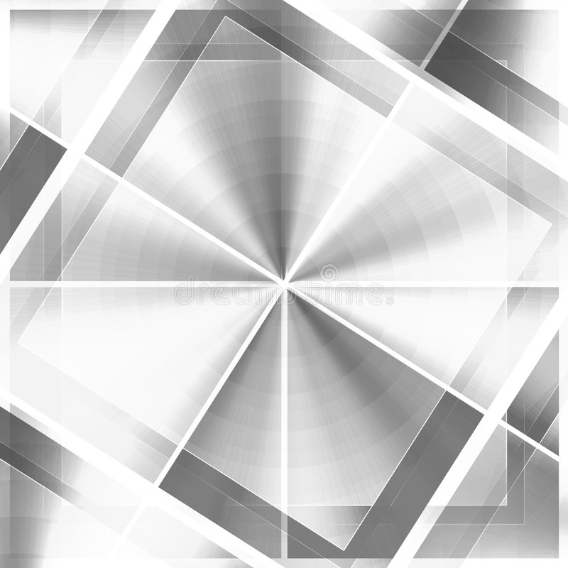 Bianco unico del nero dei reticoli royalty illustrazione gratis