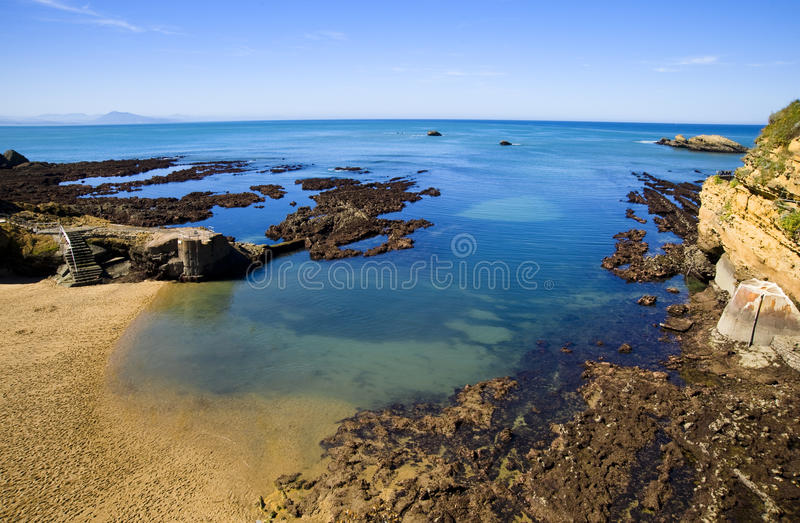 Biarritz stockbild