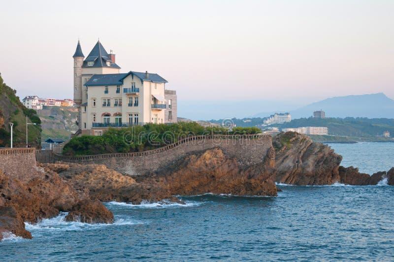 Biarritz lizenzfreie stockbilder