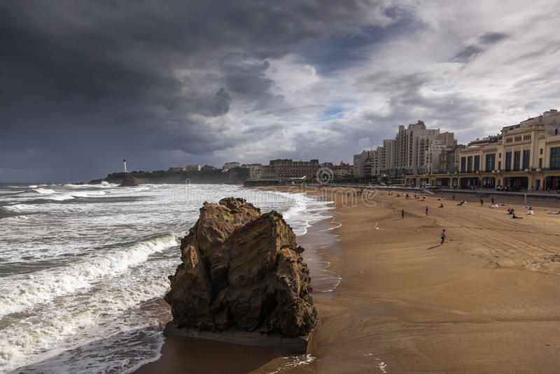 Biarritz obrazy royalty free