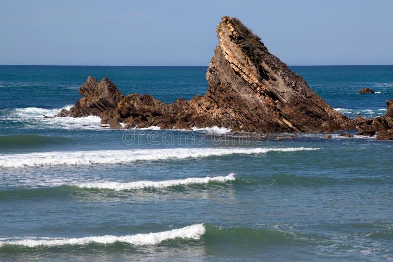 Biarritz Beach Waves Royalty Free Stock Photo