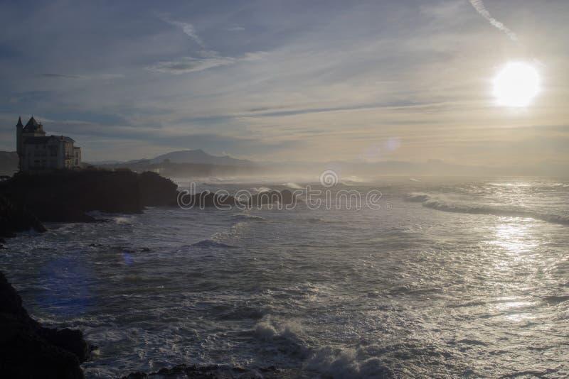 Biarritz-Felsen lizenzfreies stockbild