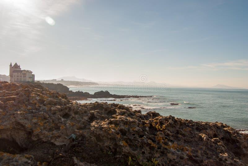 Biarritz-Felsen lizenzfreie stockbilder