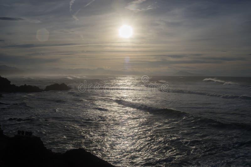 Biarritz-Felsen stockbild