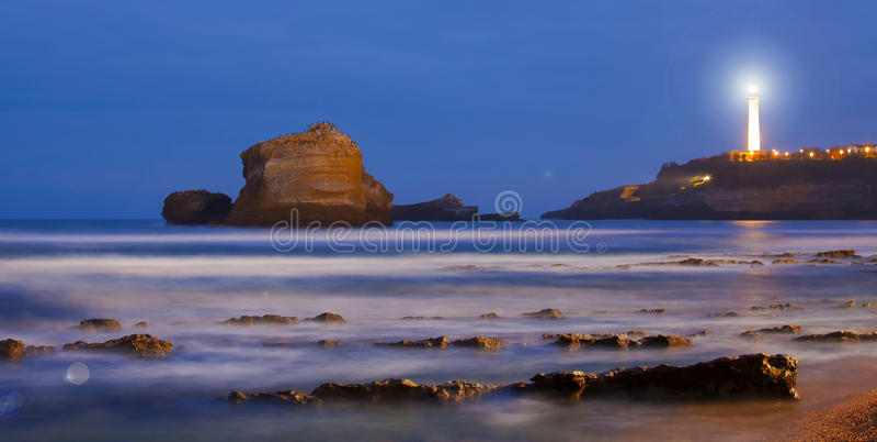 biarritz France lapurdi latarnia morska fotografia stock